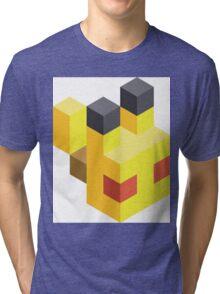 Pikachu Voxel Tri-blend T-Shirt
