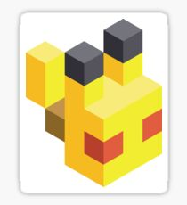 Pikachu Voxel Sticker
