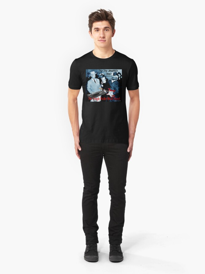 Alternate view of The Single Bullet Blues Band Slim Fit T-Shirt