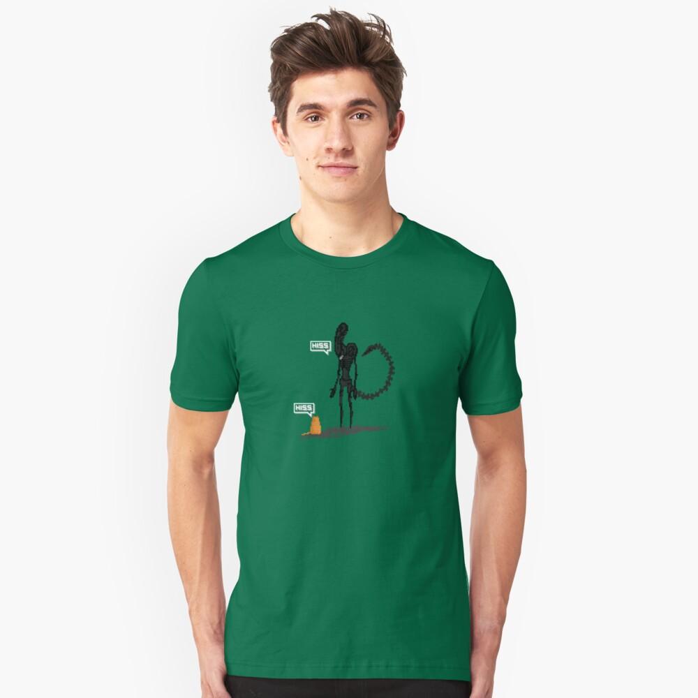 Alien Vs Jonesy Unisex T-Shirt Front