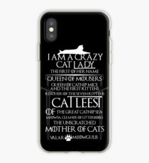 Catleesi- Mother of Cats- White on Black version iPhone Case