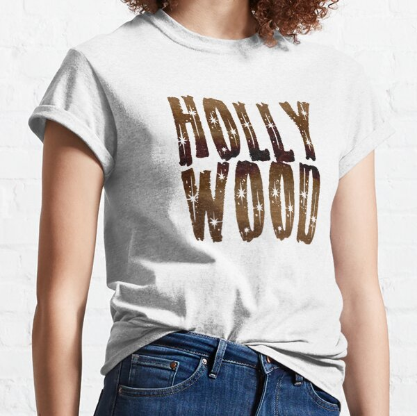 Vintage Cute Faded Hollywood Coffee and Stars Classic T-Shirt