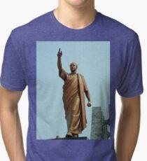 Kwame Nkrumah, Ghana`s first president, West Africa Tri-blend T-Shirt