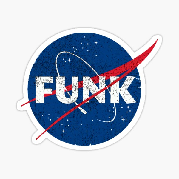 Space Funk - Distressed Sticker
