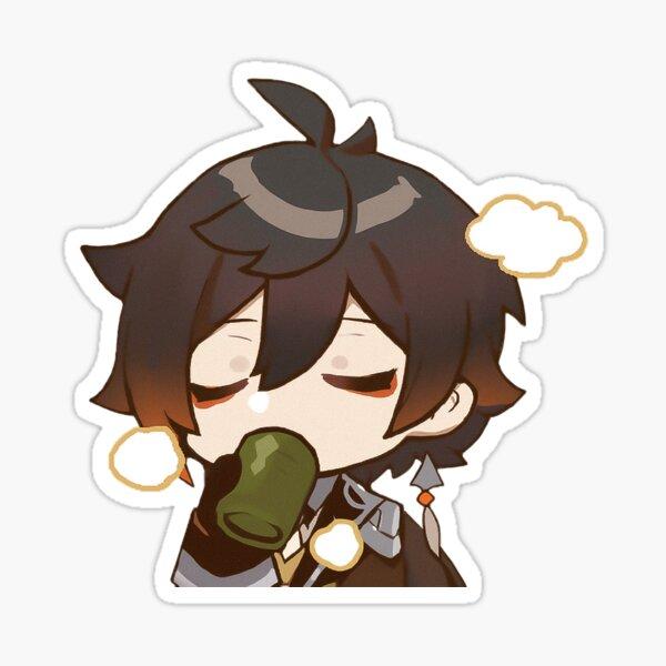 "Zhongli | Genshin Impact Sticker ""Tea"" Sticker"
