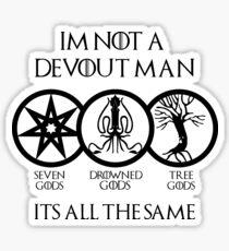 Devout Man Sticker