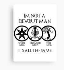 Devout Man Canvas Print