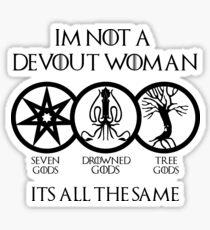 Devout Woman Sticker