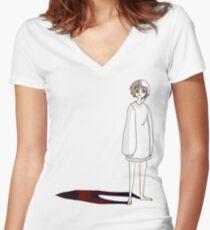 Lain Women's Fitted V-Neck T-Shirt