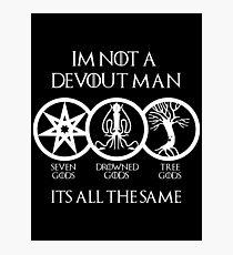 Devout Man (Dark) Photographic Print