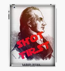 Aaron Burr Shot First - Hamilton on Broadway, Star Wars Mash-up iPad Case/Skin