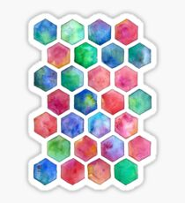 Hand Painted Watercolor Honeycomb Pattern Sticker