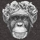 Chimp with rose crown by Summerino