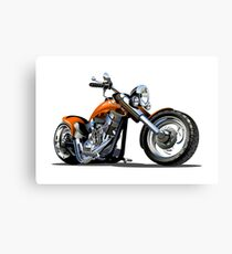 Cartoon Motorbike Canvas Print