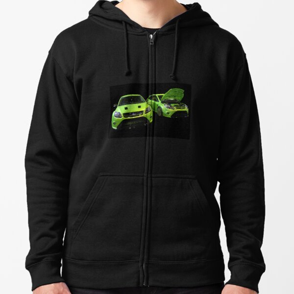 Two Green Focus RS Zipped Hoodie
