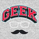 Geek with glasses and mustace! by Summerino