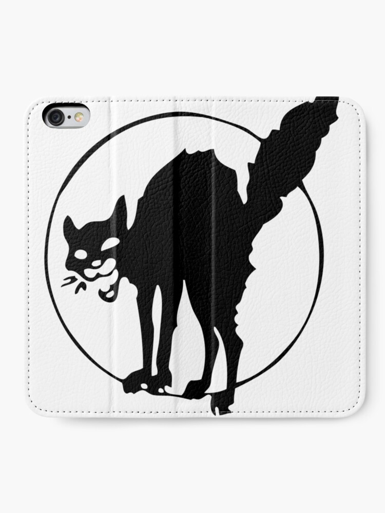 Alternate view of Anarchist black cat iPhone Wallet