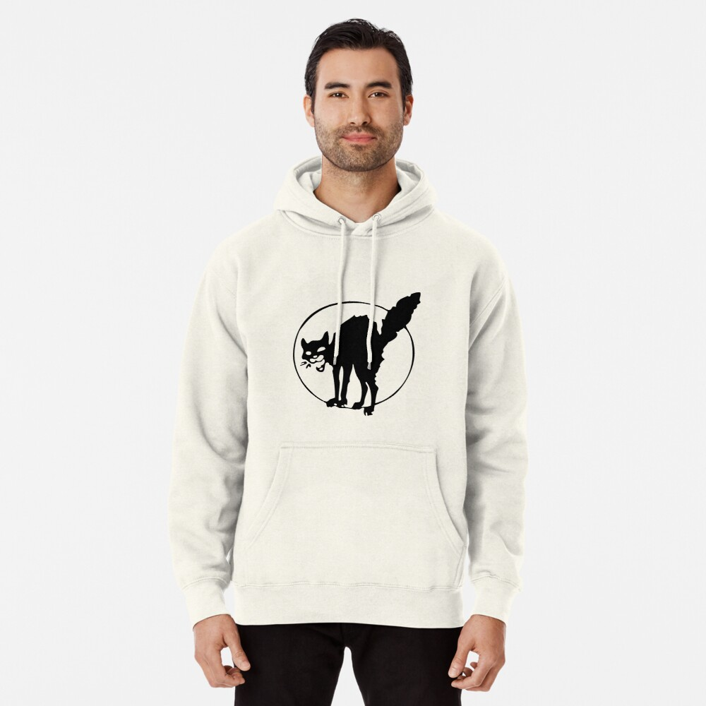 Anarchist black cat Pullover Hoodie
