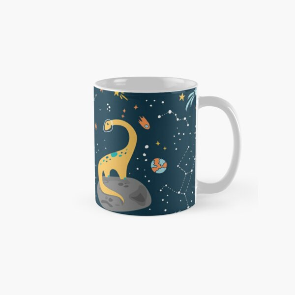 Dinosaurs Floating on an Asteroid Classic Mug