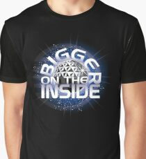 SSE-Bigger on the Inside-Blue Graphic T-Shirt