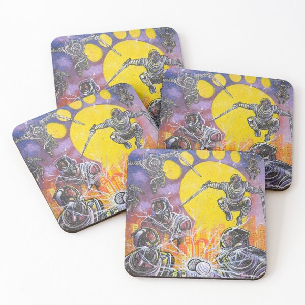 Foot Clan Coasters (Set of 4)