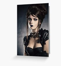 Victorian style portrait Greeting Card
