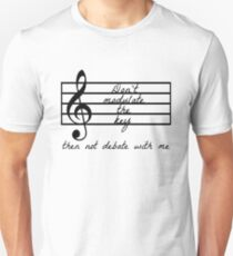 Don't Modulate the Key Slim Fit T-Shirt