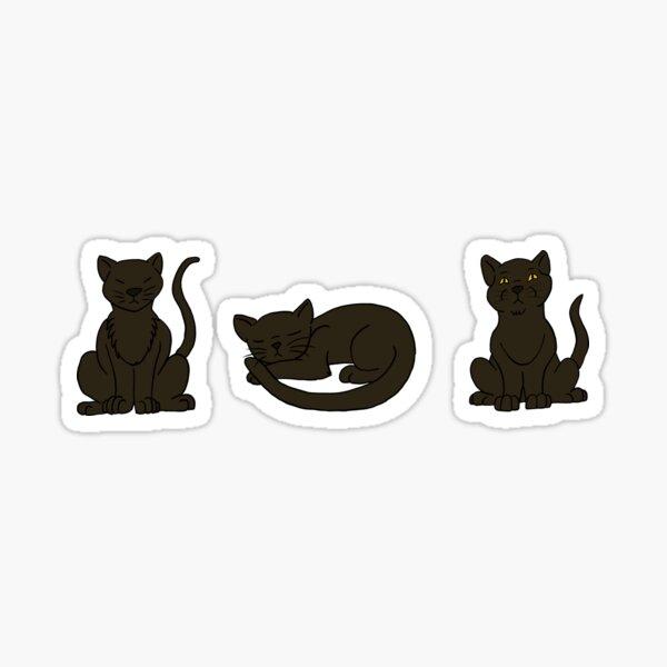Three Little Black Cats Sticker