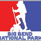 Hike Hiking BIG BEND National Park TEXAS Red White Blue by MyHandmadeSigns