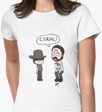 Das Gehen tot, Coral Meme Illustration Tailliertes T-Shirt für Frauen