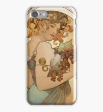 Alphonse Mucha - Fruit  iPhone Case/Skin
