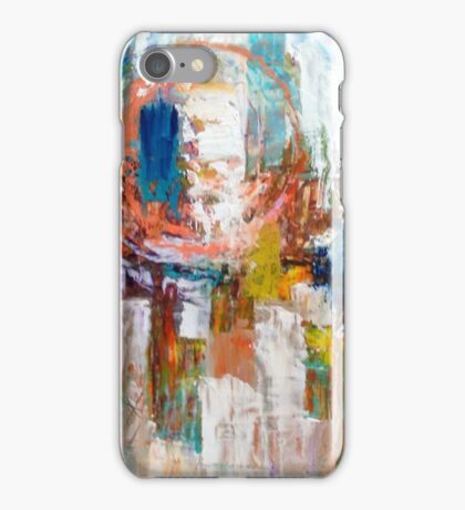 Hot Time in the City abstract by Alma Lee iPhone Case/Skin