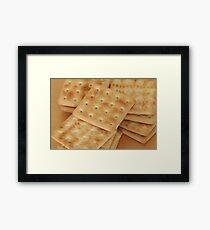 dry  biscuits cracker Framed Print