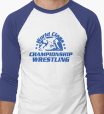 World Class Championship Wrestling t-shirt Men's Baseball ¾ T-Shirt