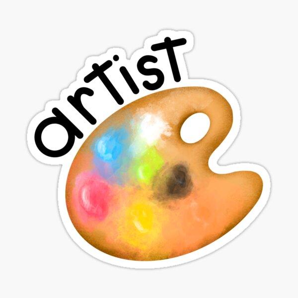 Artist mit Farbpalette  Sticker
