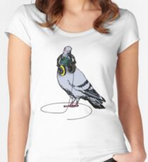 Techno Pigeon Women's Fitted Scoop T-Shirt
