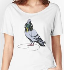 Techno Pigeon Women's Relaxed Fit T-Shirt
