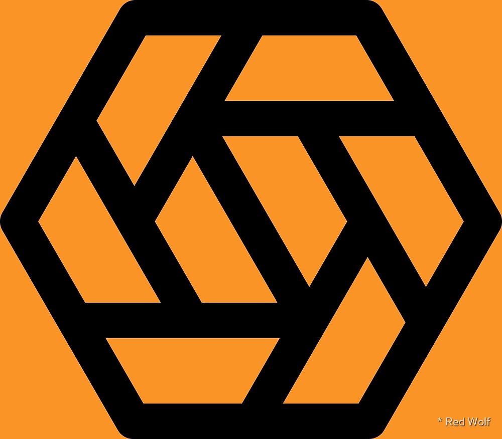 Geometric Pattern: Aperture: Orange/Black by * Red Wolf