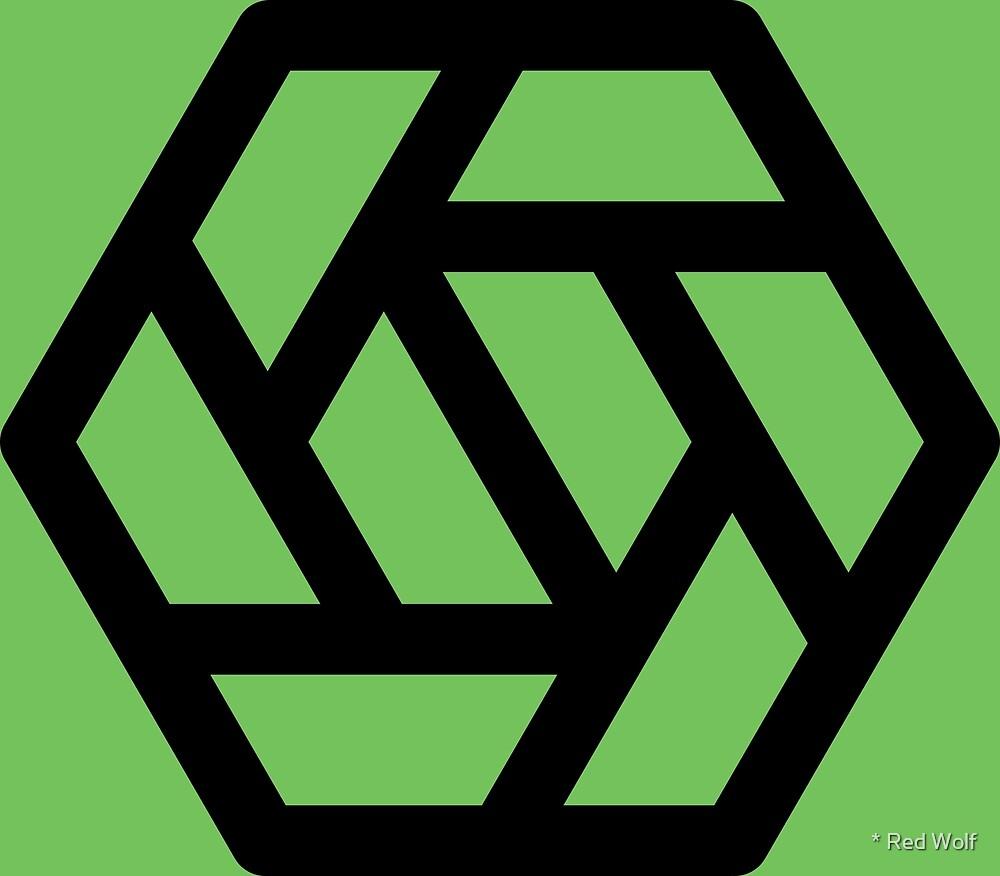 Geometric Pattern: Aperture: Green/Black by * Red Wolf