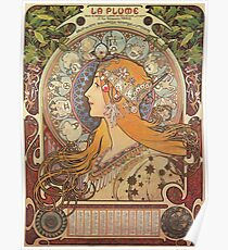 Alphonse Mucha Art Nouveau - La Plume Poster
