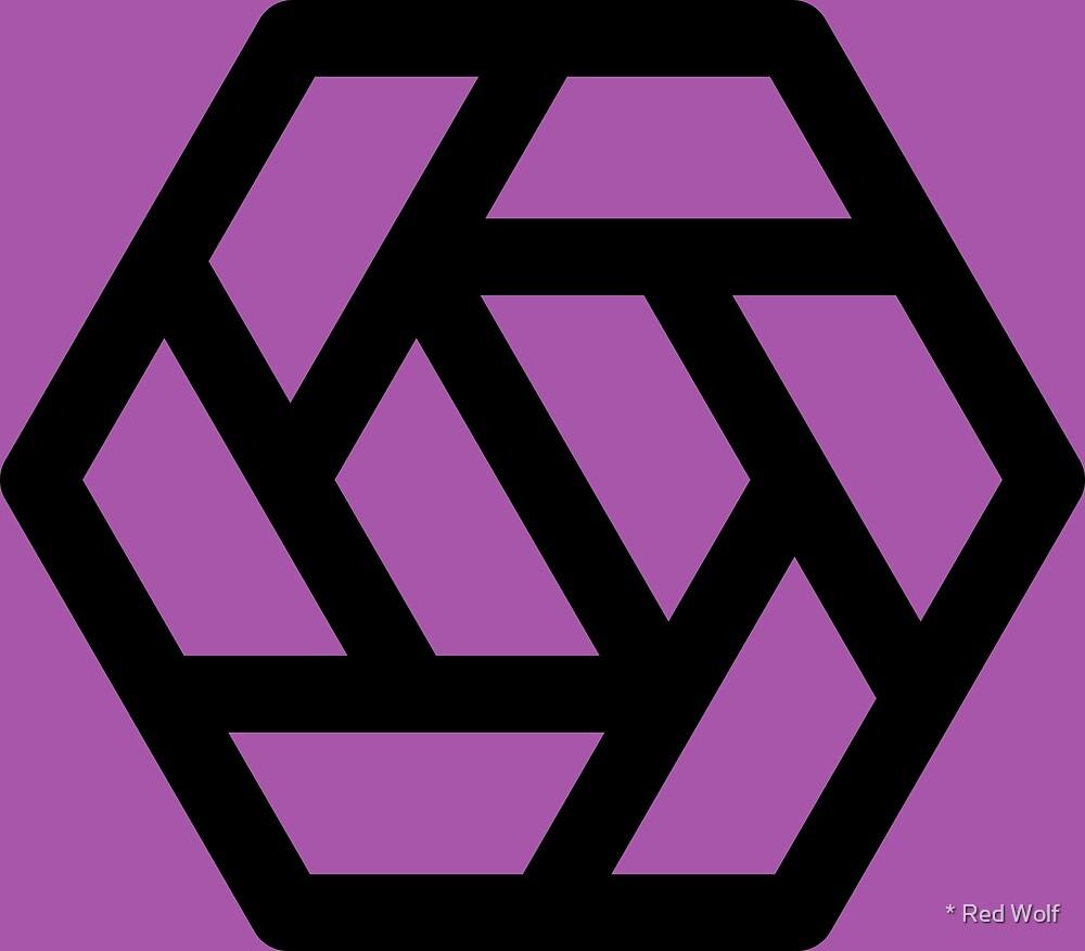 Geometric Pattern: Aperture: Purple/Black by * Red Wolf