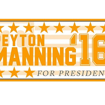 Peyton Manning para el presidente Campaign Sticker de chloe24k