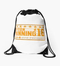 Peyton Manning para el presidente Campaign Sticker Mochila saco