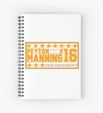 Peyton Manning para el presidente Campaign Sticker Cuaderno de espiral