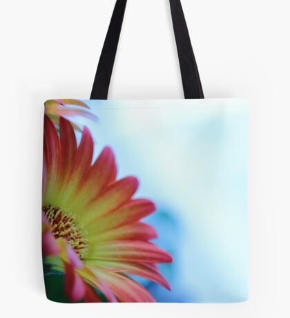 Red on Blue 2 Tote Bag