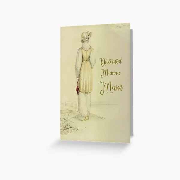 Diwrnod Mamau Mam - Happy Mothers Day Card Greeting Card