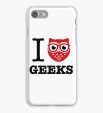 I Owl Geeks (love heart) iPhone Case/Skin