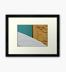 Wall, Gate, and Staircase Framed Print