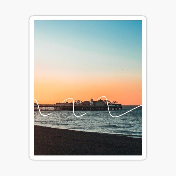 Brighton Pier at Sunrise Sticker