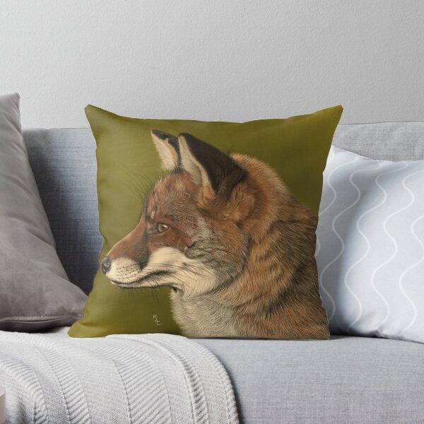 Reynard the Red Fox Throw Pillow